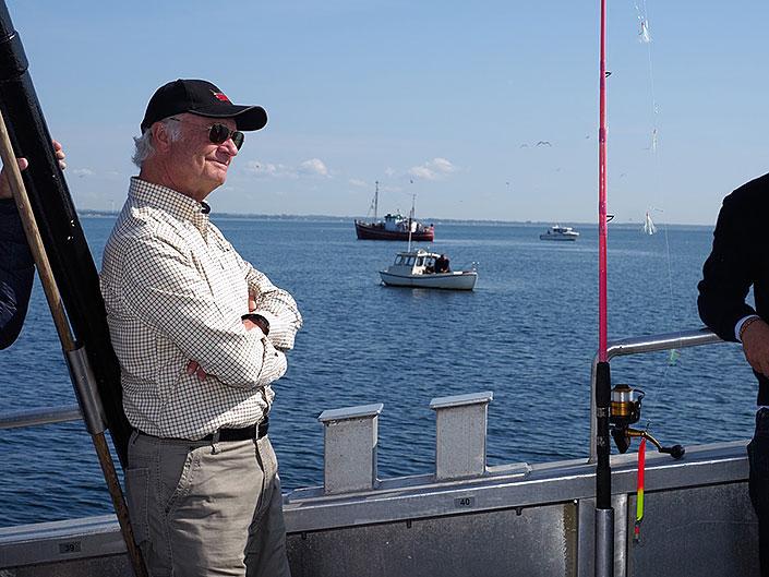 Kungen intresserad av det hållbara fisket i Öresund